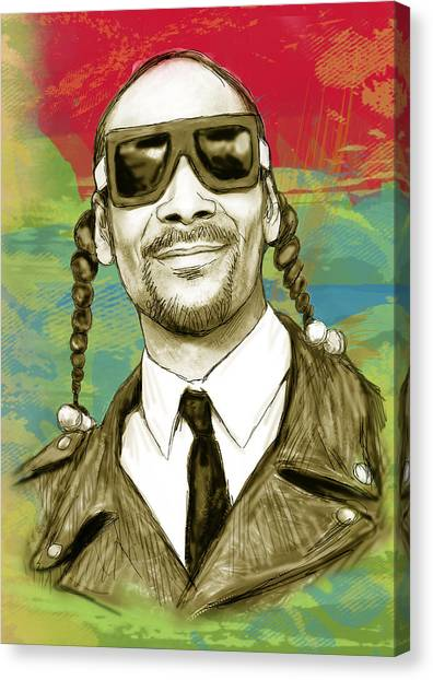 Careers Canvas Print - Snoop Dogg Art Sketch Poster by Kim Wang