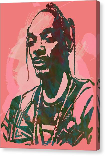 Frank Zappa Canvas Print - Snoop Dogg - Stylised Pop Art Drawing Potrait Poser by Kim Wang