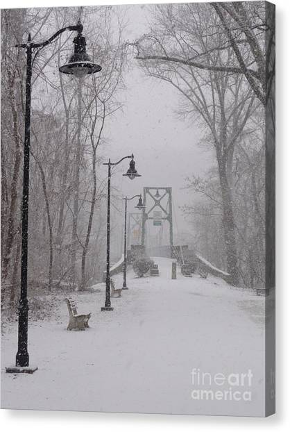 Snow At Bulls Island - 05 Canvas Print