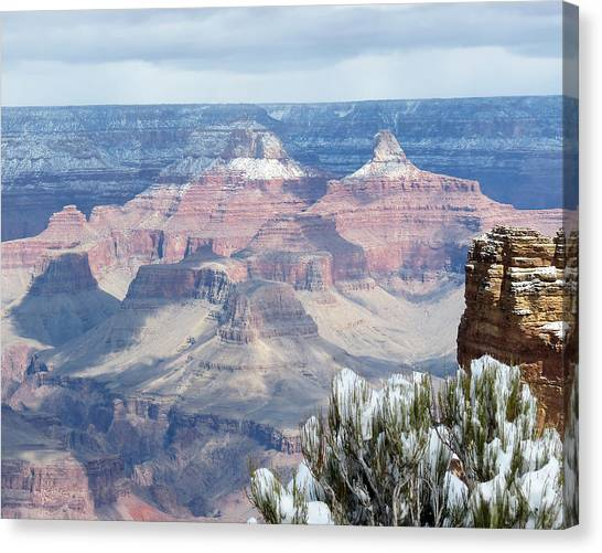 Snow At The Grand Canyon Canvas Print