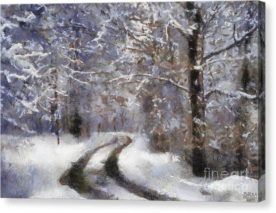 Snow Came Canvas Print