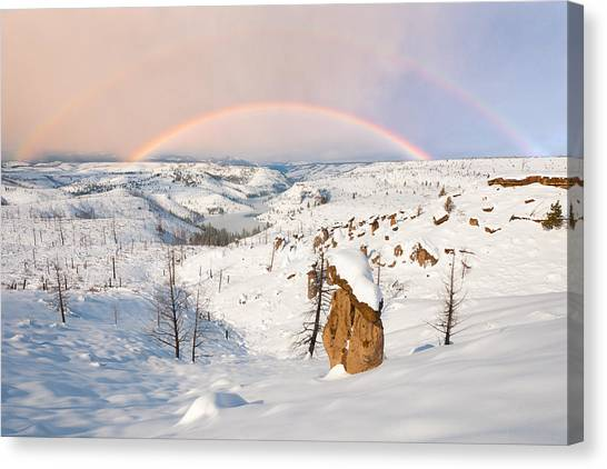 Snow Capped Hoodoo's Canvas Print