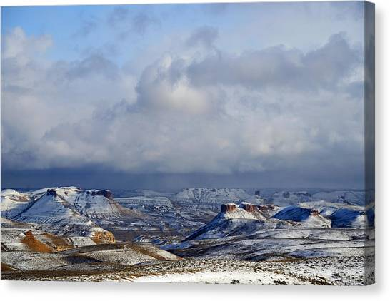 Snow Clouds Over Flaming Gorge Canvas Print