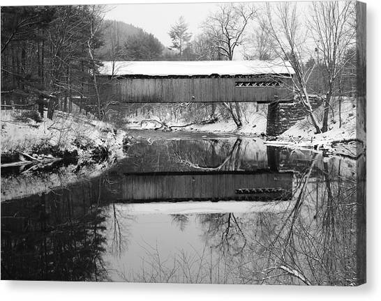 Snow Covered Coombs Canvas Print