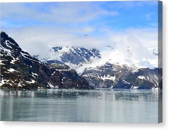 Glacier Bay Canvas Print - Snow Covered Mountain Range Glacier Bay by Deborahmaxemow