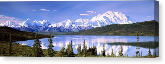 Denali Canvas Print - Snow Covered Mountains, Mountain Range by Panoramic Images