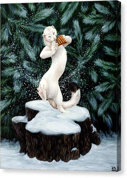 Snow Dance Canvas Print