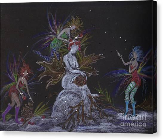 Snow Dryad Canvas Print
