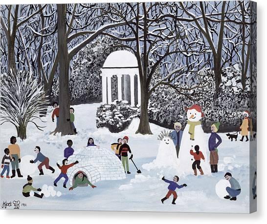 Snowball Canvas Print - Snow Follies by Judy Joel