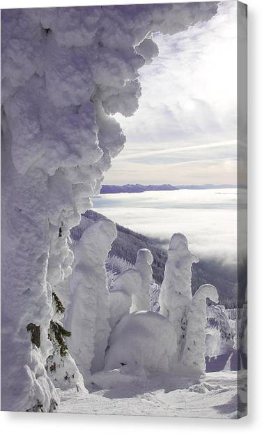 Snow Ghosts Canvas Print by Beth Marshall