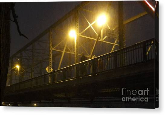 Snow In Lambertville Canvas Print