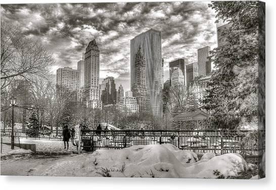 Snow In N.y. Canvas Print