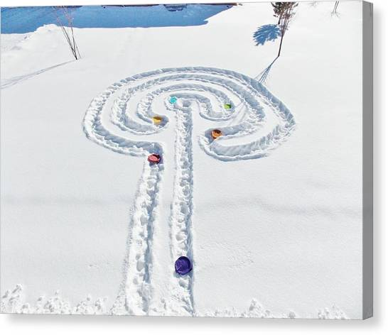 Snow Labyrinth Canvas Print