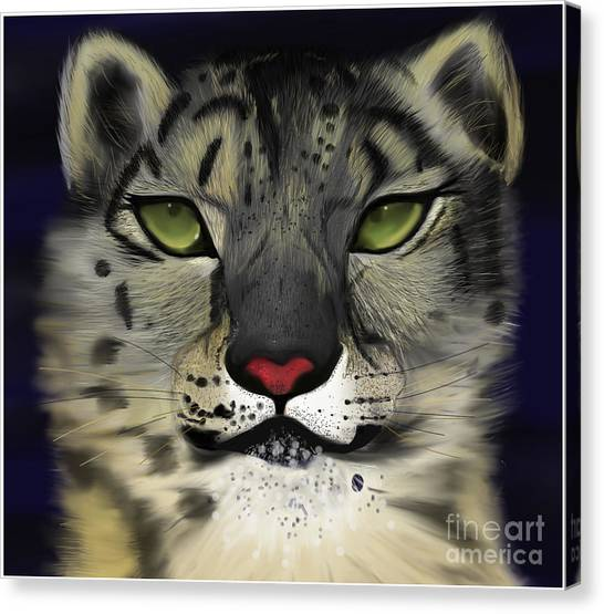 Snow Leopard - The Eyes Have It Canvas Print