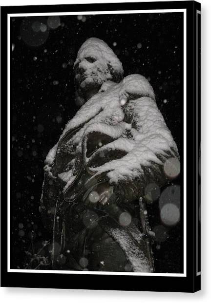 Snow Mask By Darryl Kravitz Canvas Print by Darryl  Kravitz