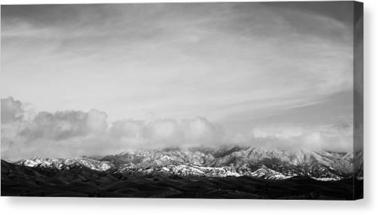 Snow On The Tehachapis Canvas Print