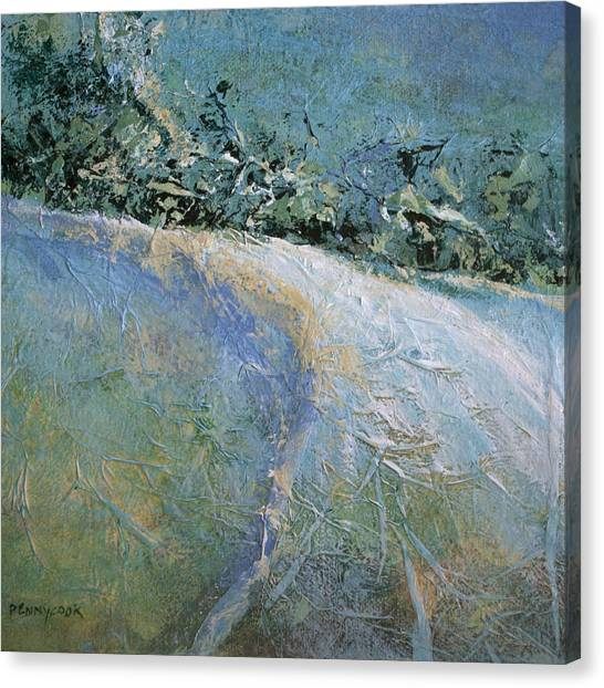 Snow Pasture Canvas Print by Bob Pennycook