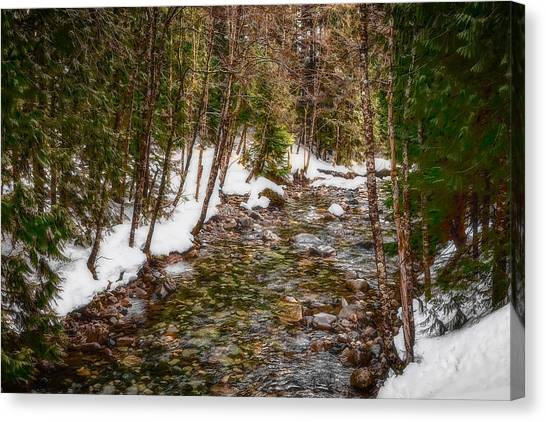 Snow River Canvas Print