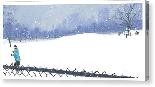 Snow Storm Canvas Print