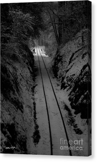 Snow Tracks - 2010 Canvas Print