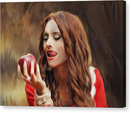 Snow White Canvas Print by Hazel Billingsley