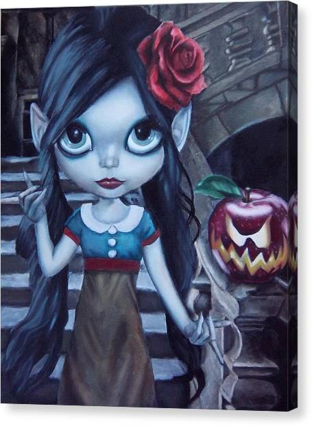 Snow White Canvas Print by Lori Keilwitz