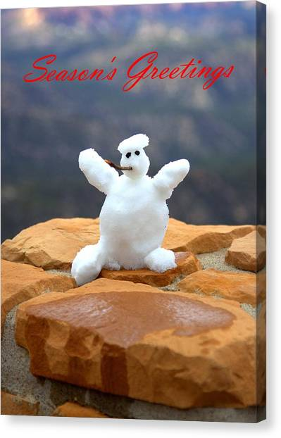 Snowball Snowman Canvas Print