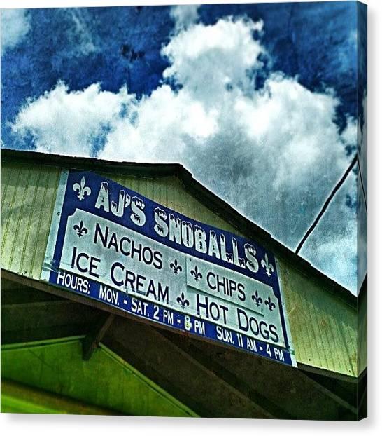 Snowball Canvas Print - Snowball Stand, Kenner La. #nola by Glen Abbott