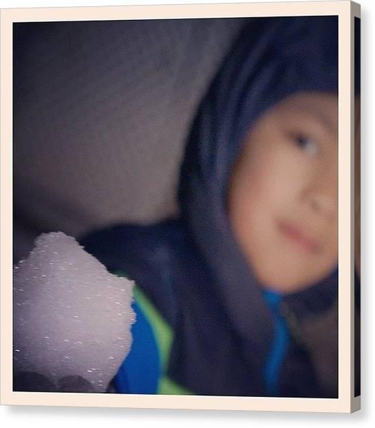 Snowball Canvas Print - #snowball #sunday #night #snow #winter by Zyrus Zarate