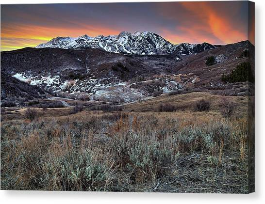 Snowbasin Fire And Ice Canvas Print