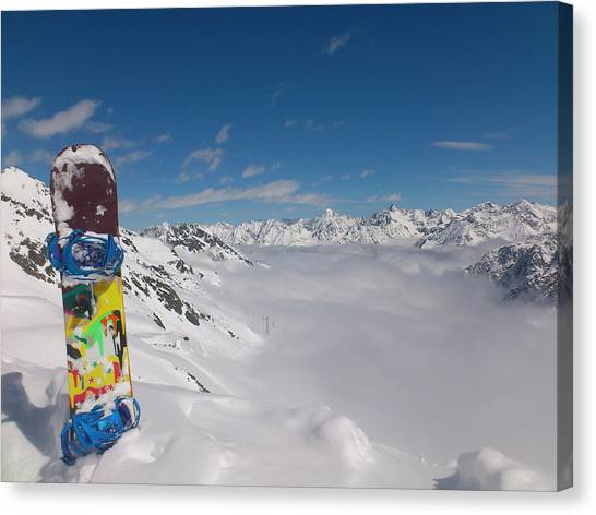 Snowboarding Canvas Print - Snowboarding In Austria by Pixabay