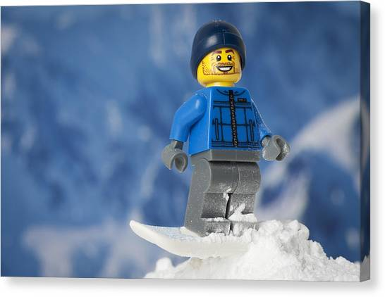 Snowboarding Canvas Print - Snowboarding by Samuel Whitton