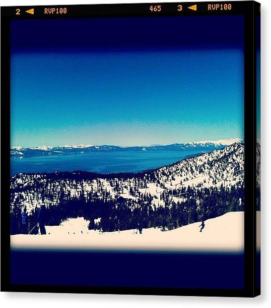 Snowboarding Canvas Print - Snowboarding Session by Monica Espinet