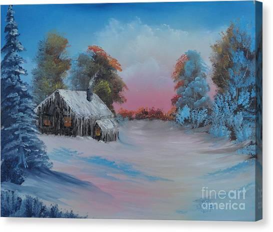 Snowbound.....but Gorgeous Canvas Print