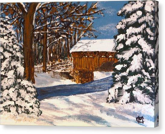 Snowbridge Canvas Print