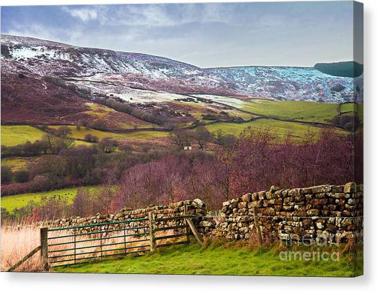 Snowcapped North Yorkshire Moors Canvas Print
