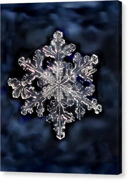 Snowflake Blue Canvas Print