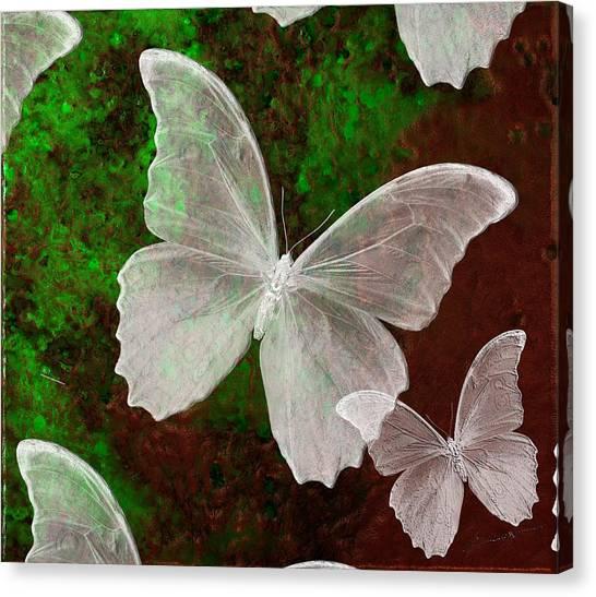Snowflies Canvas Print
