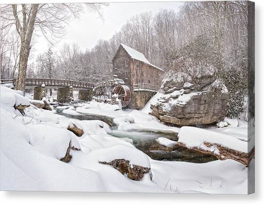 Snowglade Creek Grist Mill 1 Canvas Print