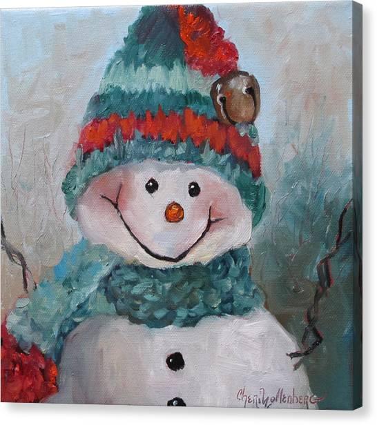 Snowman IIi - Christmas Series Canvas Print