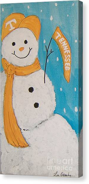 Snowman University Of Tennessee Canvas Print