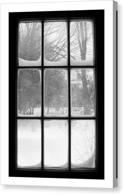 Snowstorm Outside The Windowpanes Canvas Print