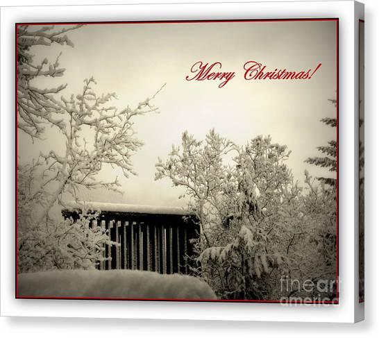 Snowy Christmas Canvas Print