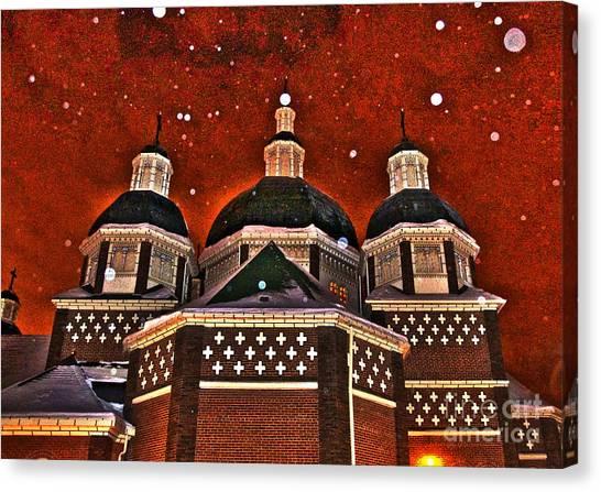 Snowy Christmas Night Canvas Print