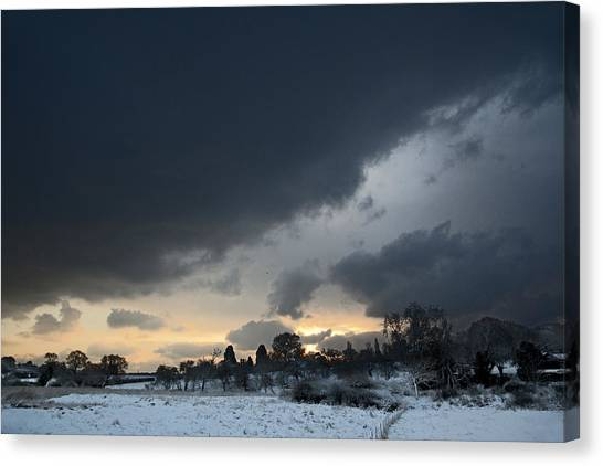 Snowy Dawn Canvas Print