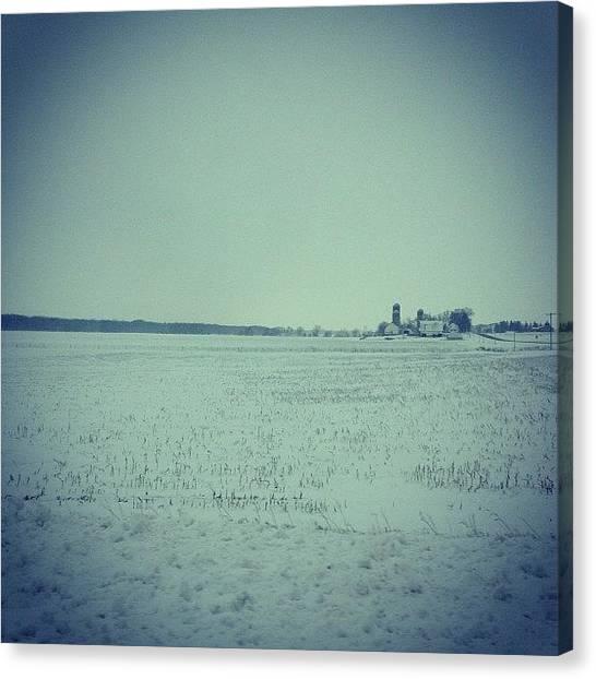 Iowa Canvas Print - Snowy Day by Jennifer Riffey