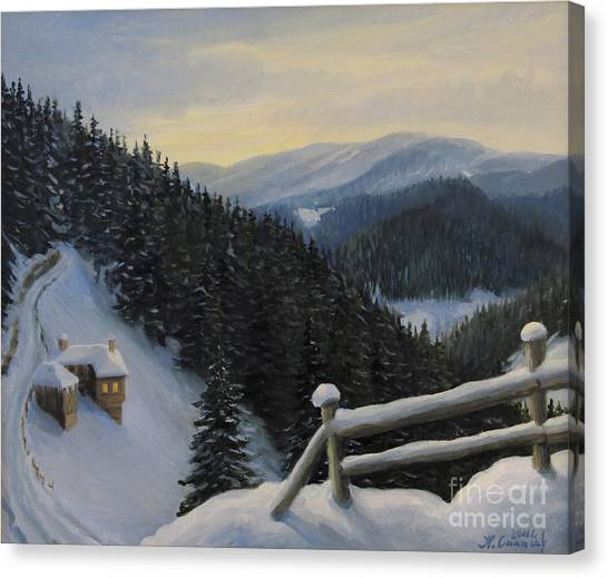Snowy Fairytale Canvas Print by Kiril Stanchev