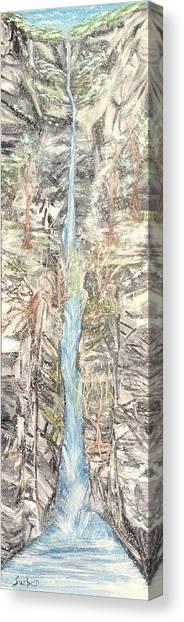 Snowy  Falls Canvas Print