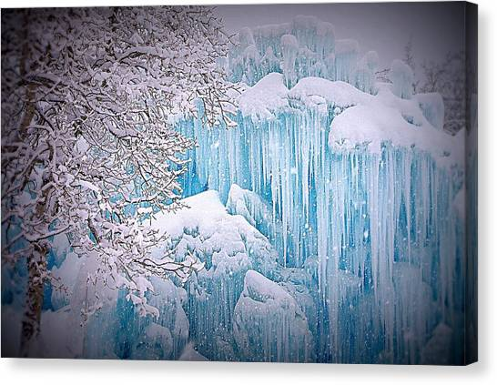 Snowy Ice Castle Canvas Print