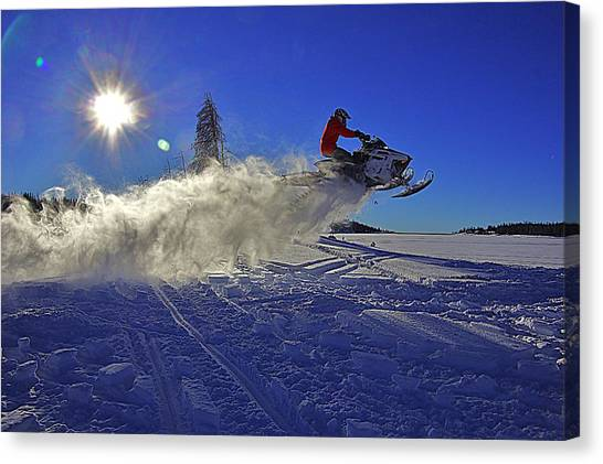 Snowy Launch Canvas Print